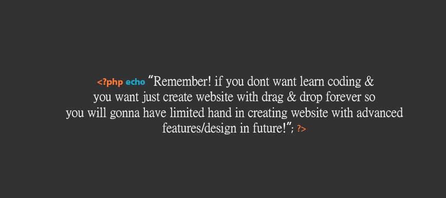 Creating websites with drag & drop is easy but not an ADVANCED website!